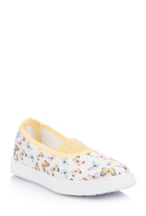 DeFacto Kız Çocuk Kelebek Desenli Ayakkabı Sarı