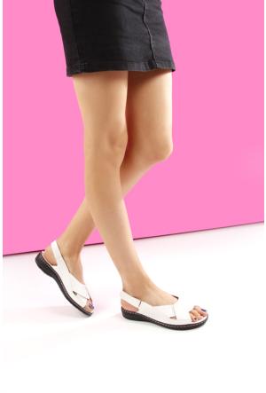 Gön Deri Kadın Sandalet 45015