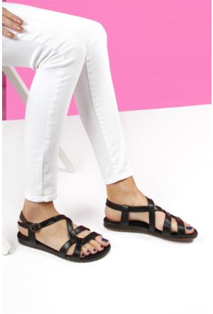 Gön Deri Kadın Sandalet 45491