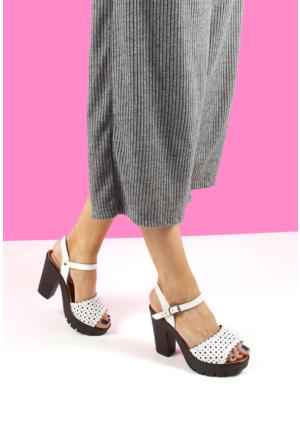 Gön Deri Kadın Sandalet 45511