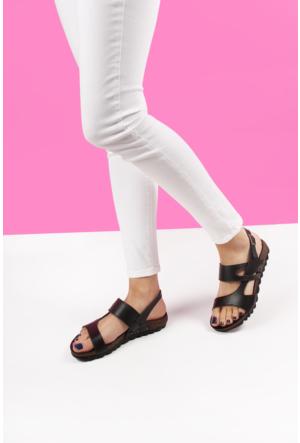 Gön Deri Kadın Sandalet 41303