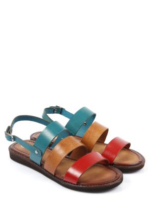 Gön Deri Kadın Sandalet 45021