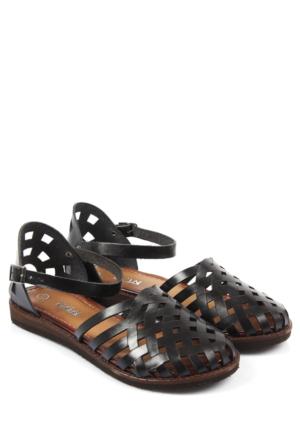 Gön Deri Kadın Sandalet 45035