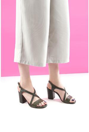 Gön Deri Kadın Sandalet 16061