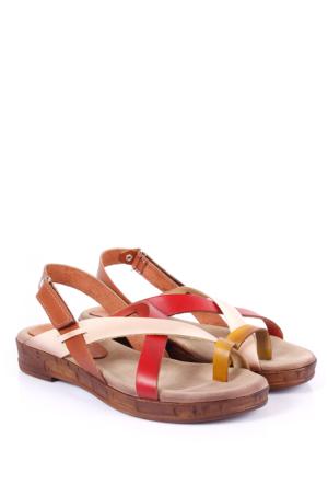 Gön Deri Kadın Sandalet 16220