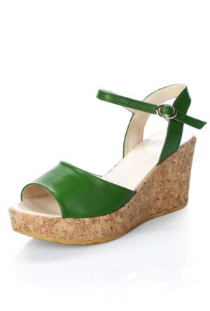 Atmaca K201 Yeşil Cilt Sandalet
