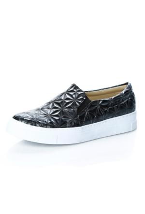 Demir Ayakkabı Anp Siyah Anakonda Pıramıt Ayakkabı