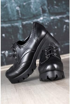 Kırmızı Pabuç Oxford Ayakkabı 24 - Siyah