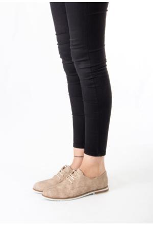 Erbilden Bab Vizon Bayan Bağcıklı Babet Ayakkabı