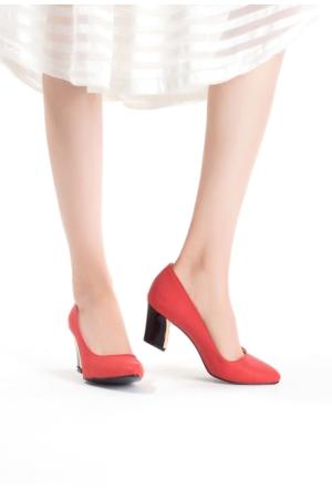 Erbilden Erb Mercan Cilt Bayan Kısa Topuk Ayakkabı