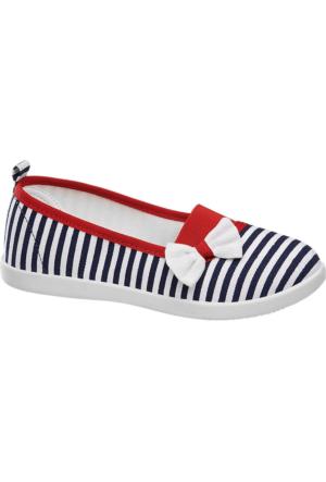 Deichmann Vty Kız Çocuk Kırmızı Lacivert Beyaz Bağcıksız Ayakkabı