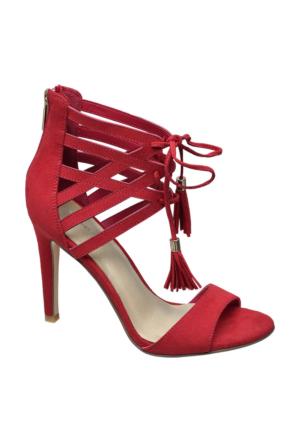 Deichmann Catwalk Kadın Kırmızı Bağcıklı Topuklu Ayakkabı