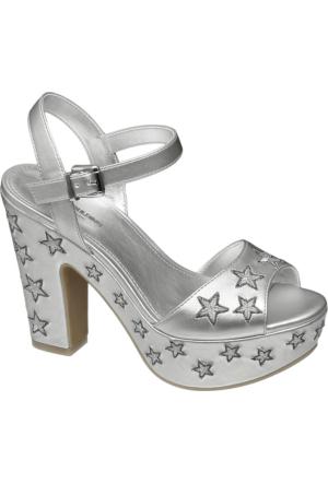 Deichmann Catwalk Kadın Gümüş Platform Topuk Sandalet