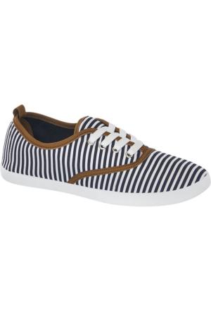 Deichmann Vty Kadın Keten Sneaker Ayakkabı Kahverengi