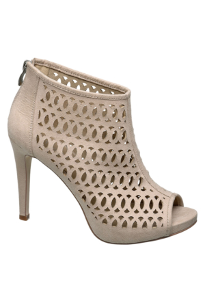 Deichmann Catwalk Kadın Bej Cut Out Topuklu Ayakkabı