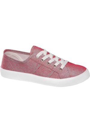 Deichmann Vty Kadın Kırmızı Keten Sneaker Ayakkabı