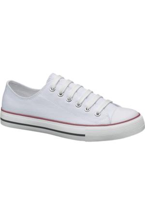 Deichmann Vty Kadın Keten Sneaker Ayakkabı Beyaz