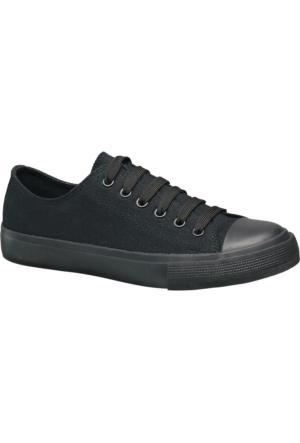 Deichmann Vty Kadın Siyah Keten Sneaker Ayakkabı