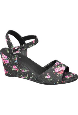 Graceland Kadın Siyah Dolgu Topuk Sandalet Pembe