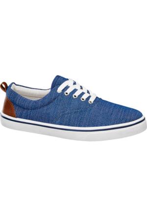 Deichmann Vty Erkek Mavi Keten Sneaker Ayakkabı