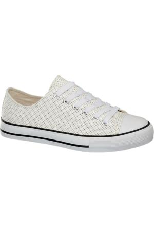 Deichmann Vty Kadın Keten Sneaker Ayakkabı Ekru