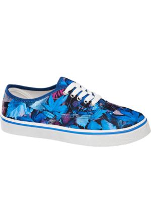 Deichmann Vty Kadın Mavi Keten Sneaker Ayakkabı