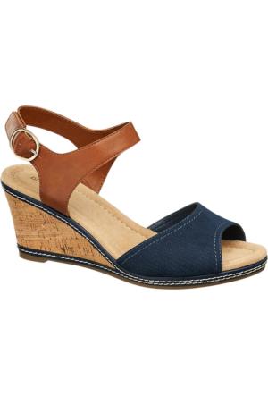 Graceland Kadın Dolgu Topuk Sandalet Kahverengi