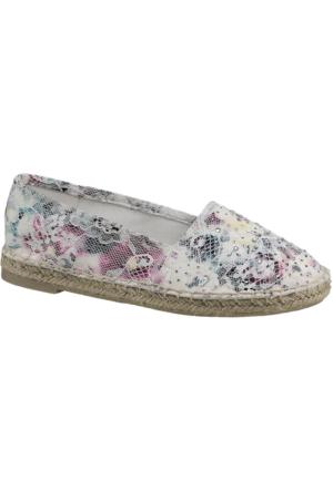 Venice Kadın Çok Renkli Espadril Ayakkabı Beyaz