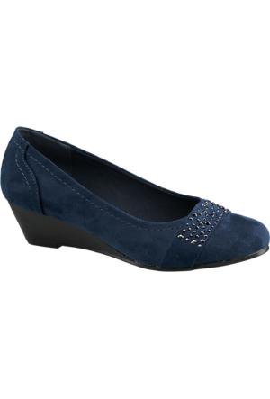 Graceland Kadın Dolgu Topuk Ayakkabı Lacivert