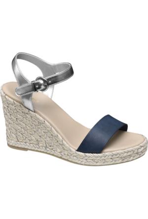 Graceland Kadın Dolgu Topuk Sandalet Lacivert