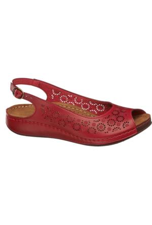 Deichmann Easy Street Kadın Kırmızı Sandalet