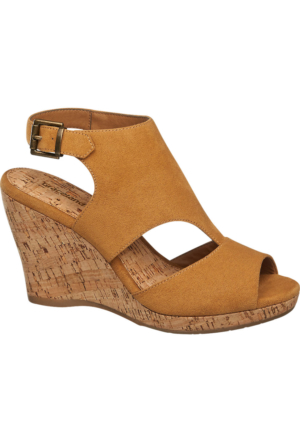 Graceland Kadın Dolgu Topuk Sandalet Hardal
