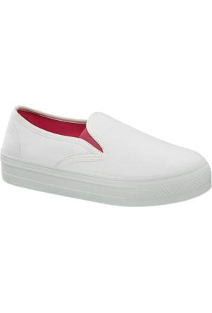 Deichmann Vty Kadın Slip On Ayakkabı Beyaz