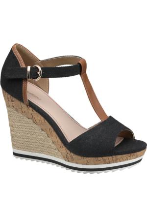 Graceland Kadın Dolgu Topuk Ayakkabı Siyah