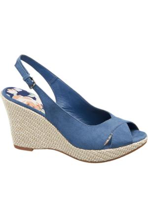 Graceland Kadın Dolgu Topuk Sandalet Mavi