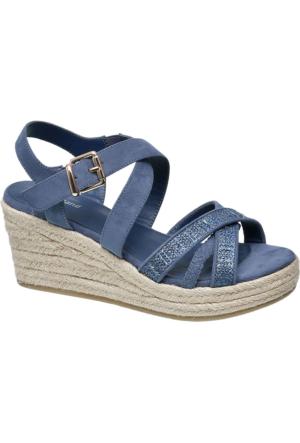 Graceland Kadın Mavi Dolgu Topuk Sandalet
