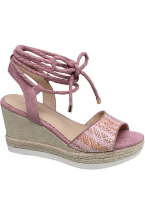 Graceland Kadın Pembe Dolgu Topuk Sandalet