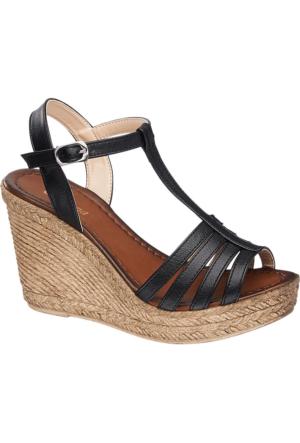 Graceland Kadın Siyah Dolgu Topuk Ayakkabı