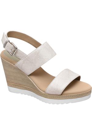 Graceland Kadın Bej Dolgu Topuk Sandalet