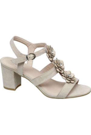 Graceland Kadın Bej Kalın Topuk Sandalet