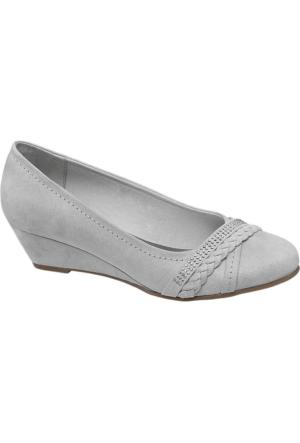 Graceland Kadın Gri Dolgu Topuk Ayakkabı