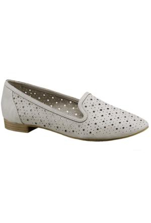 Graceland Kadın Gri Ekru Loafer Ayakkabı