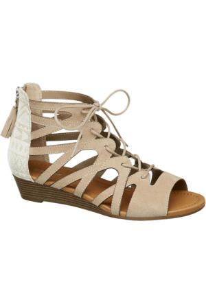 Graceland Kadın Bej Bağcıklı Sandalet