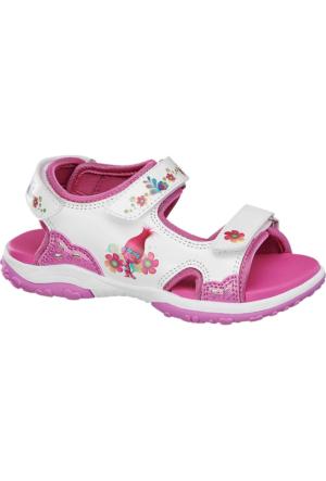 Trolls Kız Çocuk Pembe Beyaz Sandalet