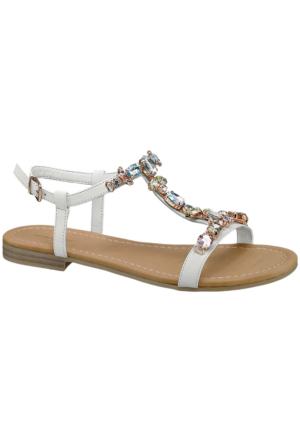 Graceland Kadın Beyaz Taşlı Sandalet