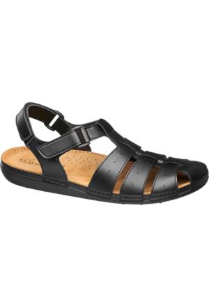 Claudio Conti Erkek Siyah Sandalet