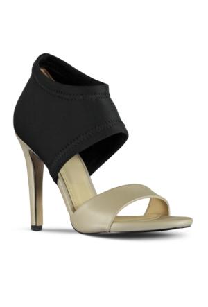 Marjin Tenva Topuklu Ayakkabı Bej