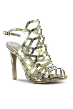Marjin Nova Topuklu Ayakkabı Altın
