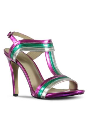 Marjin Işıl Topuklu Ayakkabı Fuşya