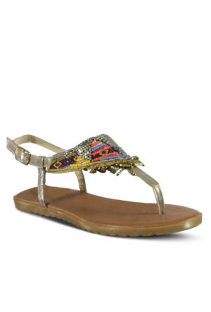 Marjin Dayse Düz Sandalet Altın
